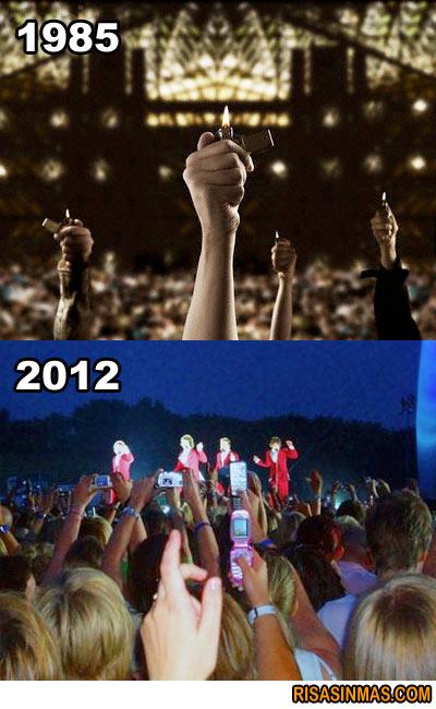 Evolución en los conciertos