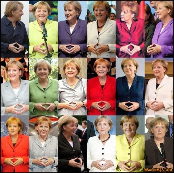 El gesto que nunca hace Angela Merkel