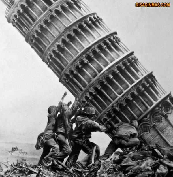 Intentando enderezar la Torre de Pisa