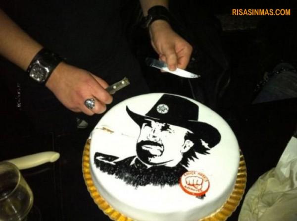 La tarta de Chuck Norris