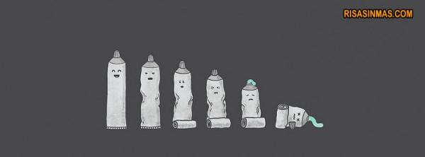 La vida de un tubo de pasta de dientes