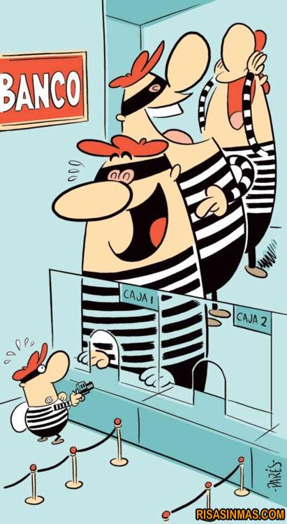 Va un ladrón a un banco...