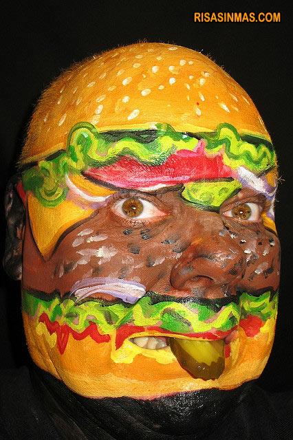 Maquillaje hamburguesa