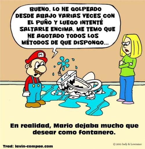 ¡Mario Bros es un chapuzas!