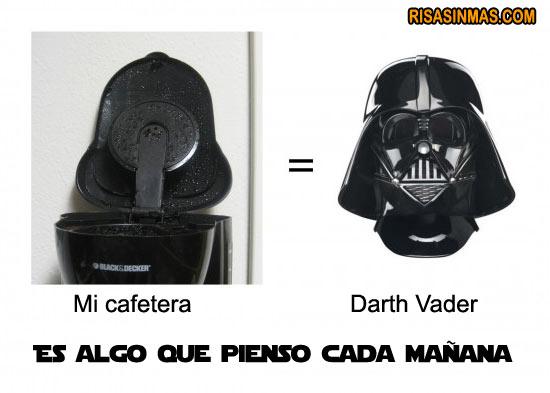 Parecidos razonables: Mi cafetera - Darth Vader