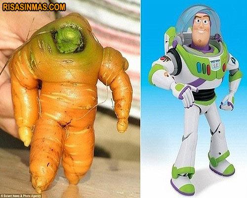 Parecidos razonables: Zanahoria - Buzz Lightyear
