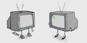 Pareja de televisores