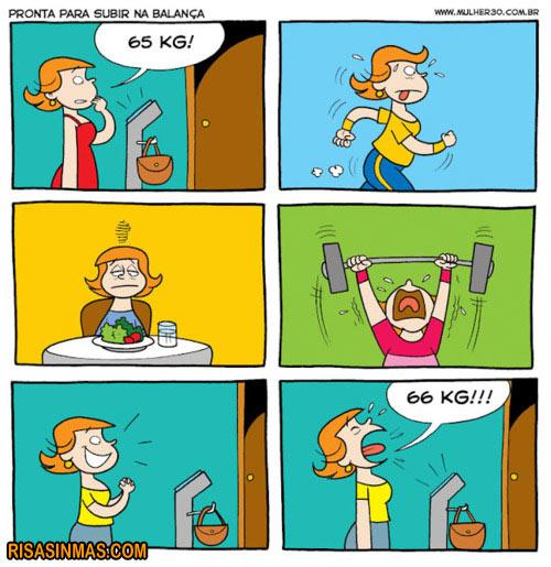 Perdiendo peso...