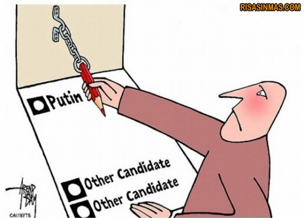 Votando en Rusia