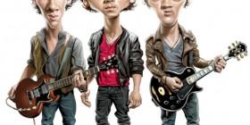 Caricatura de Jonas Brothers