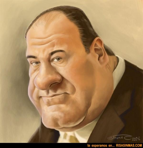 Caricatura de James Gandolfini en Los Soprano