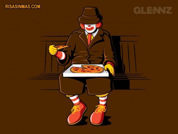 Ronald McDonald se camufla
