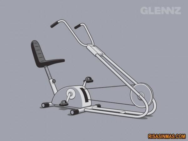 Bicicleta estática chopper