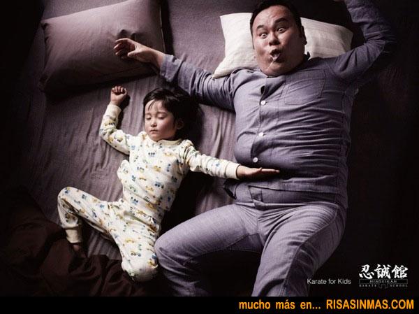 Dormir con un karateka