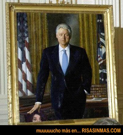 El cuadro de Bill Clinton