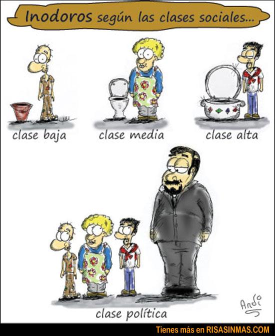 Inodoros según las clases sociales