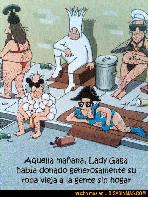 Lady Gaga ha donado su ropa