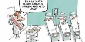 Menú de hospital en tiempos de crisis
