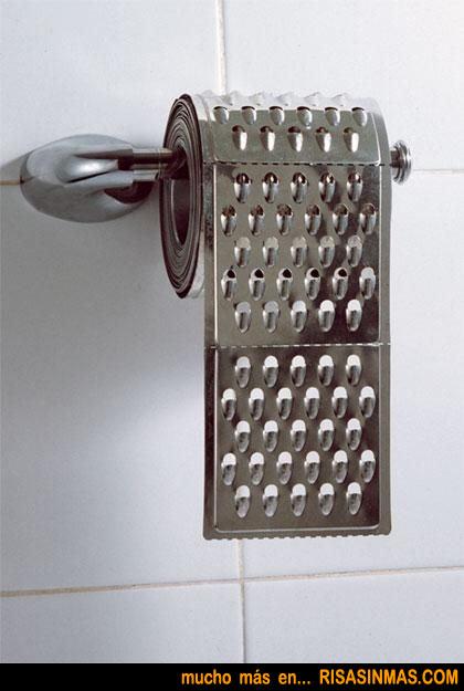 Papel higiénico rallador