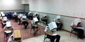 Sistema anticopia en exámenes