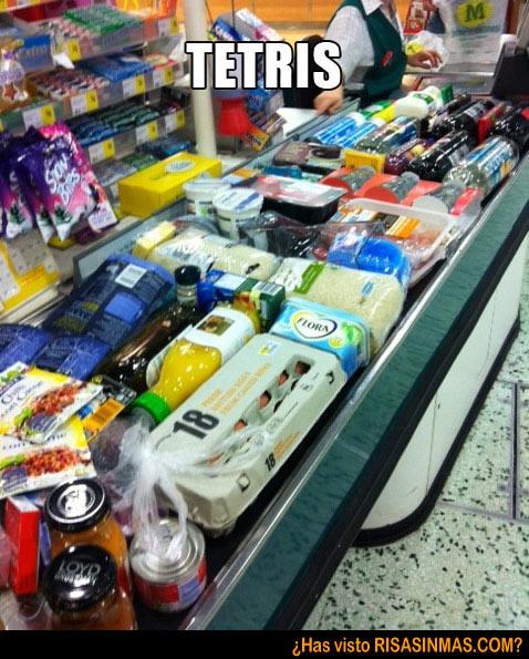 Tetris en el supermercado