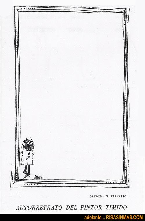 Autorretrato del pintor tímido