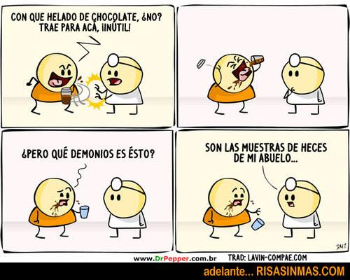 ¡Dame mi helado de chocolate!