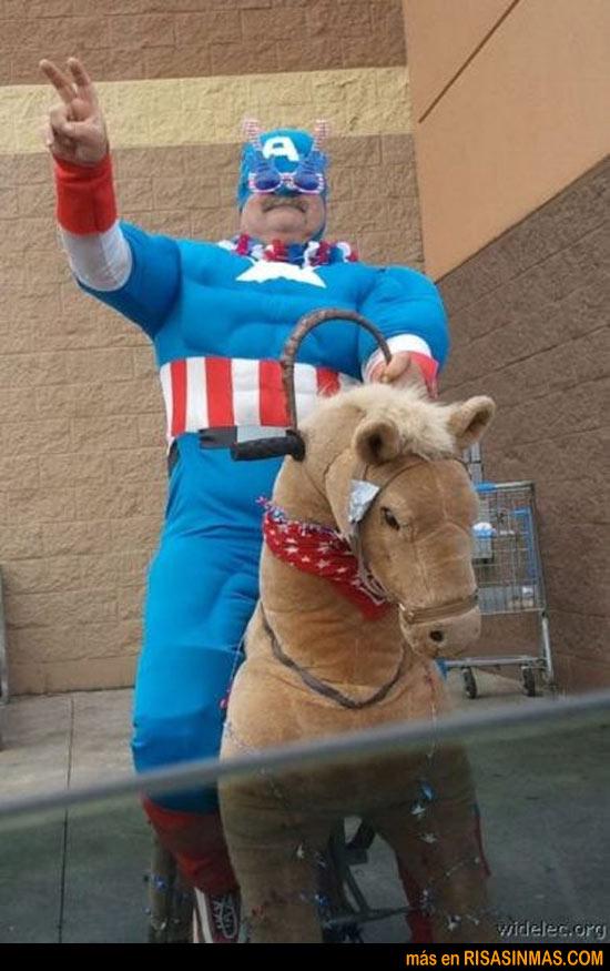 Concurso de disfraces del Capitán América
