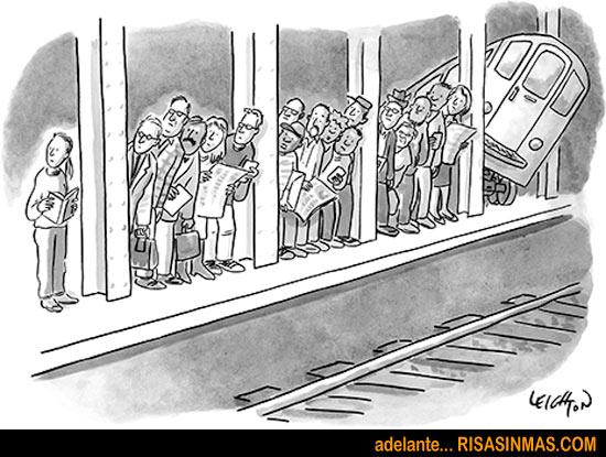 Esperando el tren...