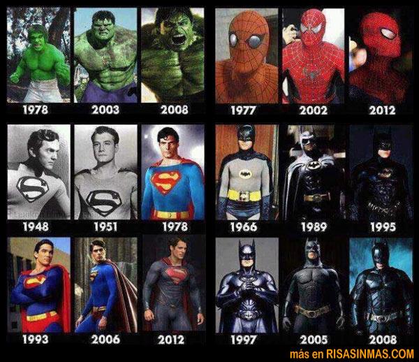 Evolución de los superhéroes