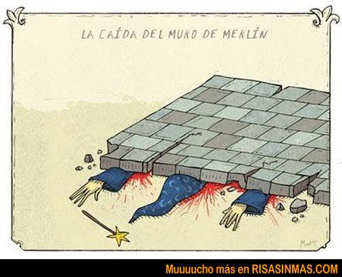 La caída del muro de Merlín