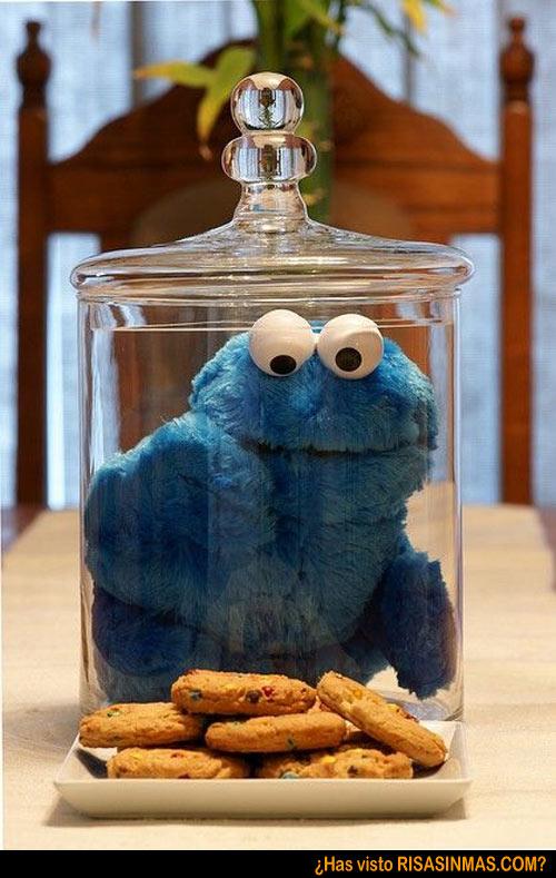 ¡El monstruo de las galletas atrapado!
