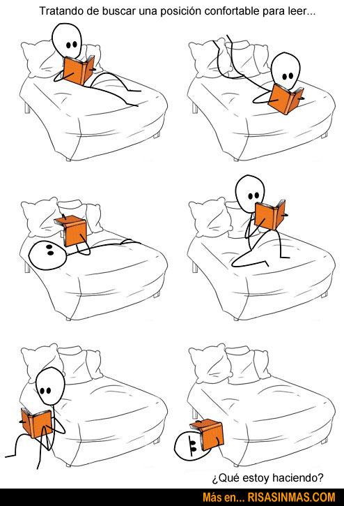 Buscando una posición confortable...