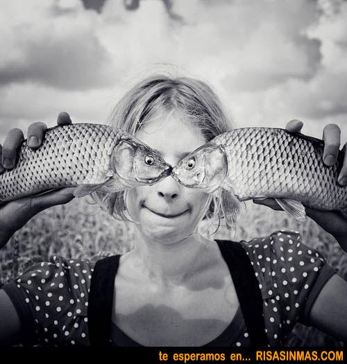 Retratos graciosos: ojos de pez