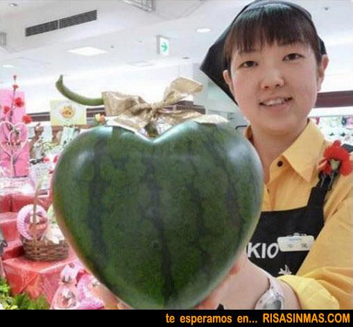 Sandía especial del día de San Valentín