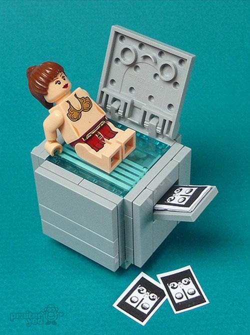 La broma de la fotocopiadora... en Lego