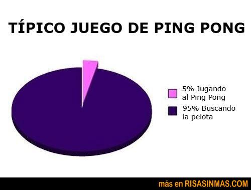 Jugando al ping pong
