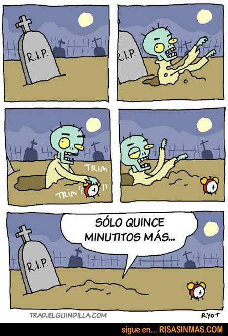 El zombie que no quiere levantarse