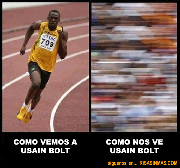 Como nos ve Usain Bolt