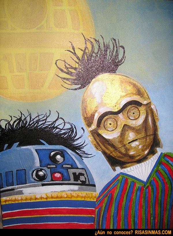 Epi y Blas versión Star Wars