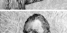 Van Gogh haciéndose la foto del perfil de Facebook