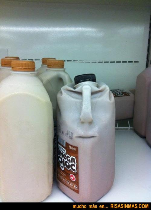 Botella con cara