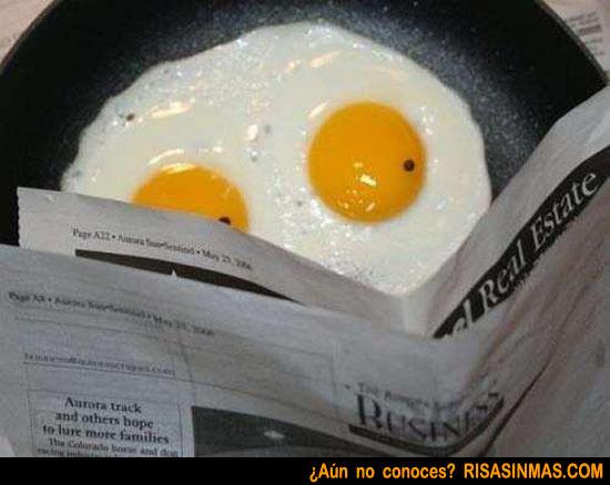 Huevo leyendo