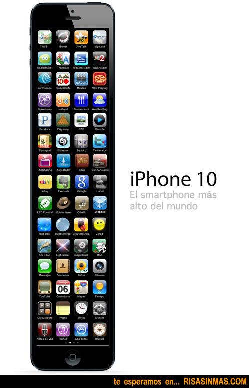 iPhone 10, el smartphone más alto del mundo