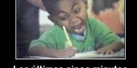 Realizando un examen