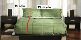 Reparto de una cama de pareja