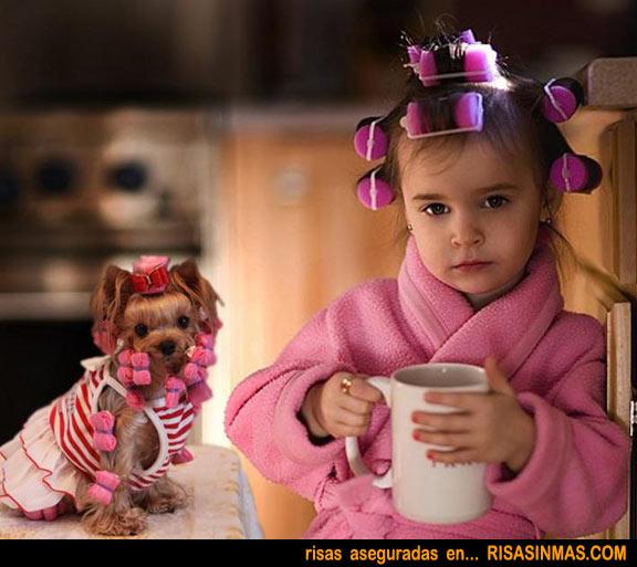 Simbiosis perros y humanos