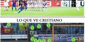 Faltas según Messi y Cristiano Ronaldo