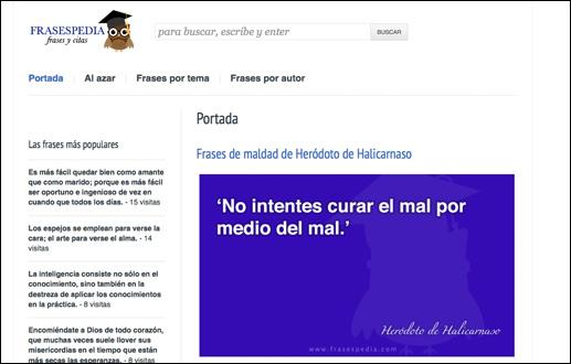 Frasespedia, un nuevo enfoque a las frases y citas