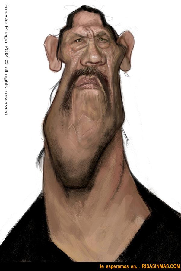 Caricatura de Dany Trejo